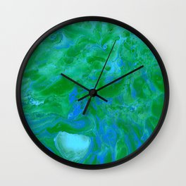 Paint Pouring 34 Wall Clock