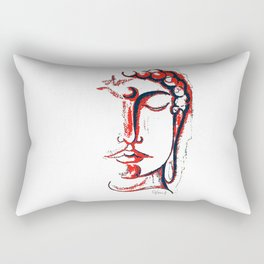 SHADES OF RED BUDDHA ILLUSTRATION Rectangular Pillow