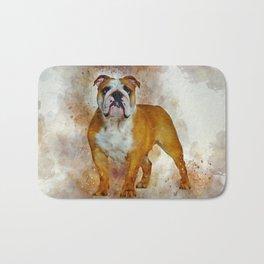 Bulldog Art Bath Mat