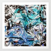 metallic Art Prints featuring Metallic by Lara Gurney