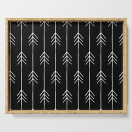 Arrows in Black and White from Peppermint Creek Serving Tray