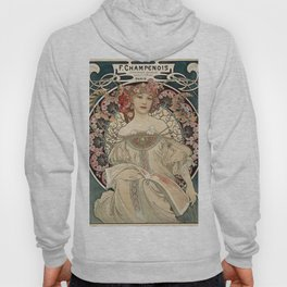 Alphonse Mucha - Vintage Advertisement Poster for F. Champenois, Printer & Publisher (1898) Hoody