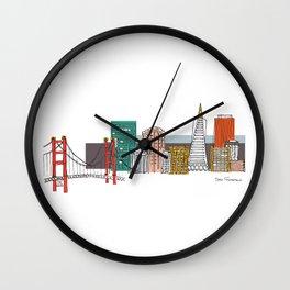 San Francisco Skyline Illustration Wall Clock