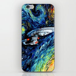 van Gogh Never Boldly Went iPhone Skin
