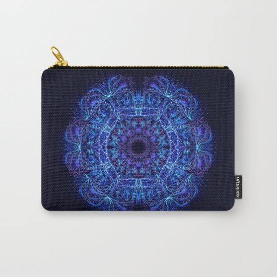 Blue Crystal Mandala Carry-All Pouch