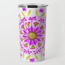 Floral Grove Mandala Travel Mug