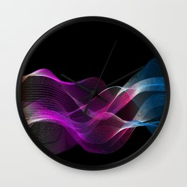 Many colored lines Wall Clock