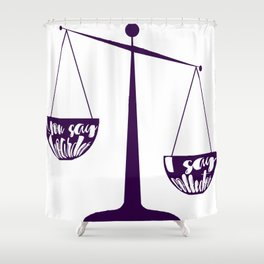 Semantics: Hoarder VS Collector Shower Curtain
