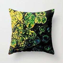 Neon Hues Throw Pillow