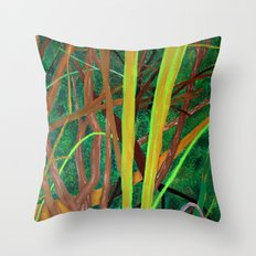 Linear Nature Throw Pillow