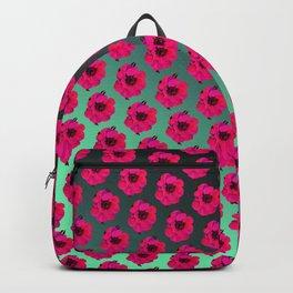 Red floral ocean Backpack