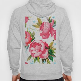 Beautiful Floral Bouquet  Pink Flowers Patterns Hoody