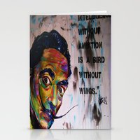 salvador dali Stationery Cards featuring Salvador Dali by Ruby Chavez