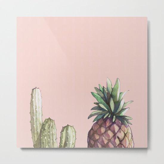 cactu and pineapple Metal Print