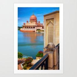 Putra Mosque Malaysia Art Print