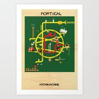 portugal Art Prints featuring Portugal by federico babina
