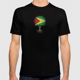 Vintage Tree of Life with Flag of Guyana T-shirt