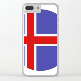 Icelandic flag Clear iPhone Case