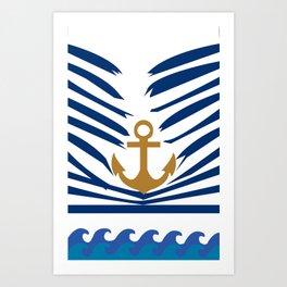 Sinking Anchor by Chantal Zorzi Art Print