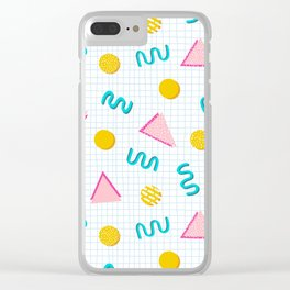 Geometric Memphis Clear iPhone Case