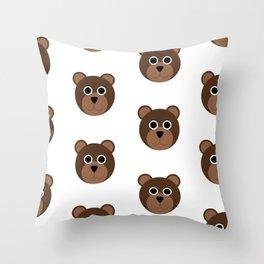 Brown Bears Pattern Throw Pillow