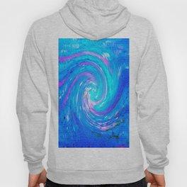 Blue Swirling Sea Infinity Abstract Hoody