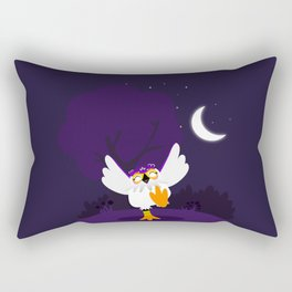 Happy white owl Rectangular Pillow