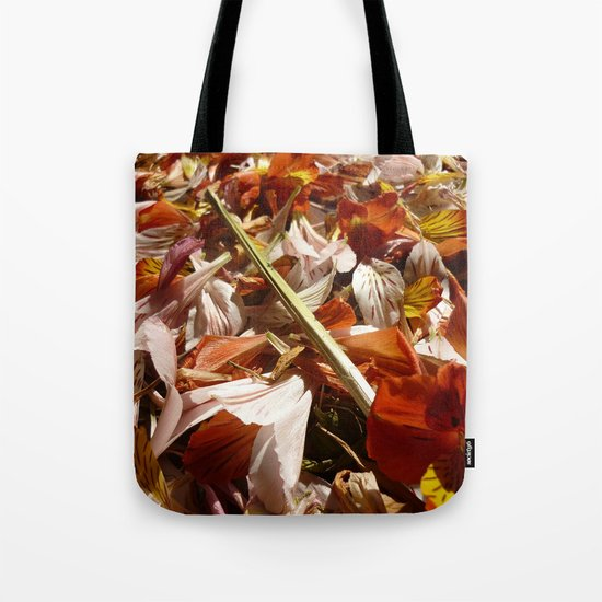 Flowers on a table  Tote Bag