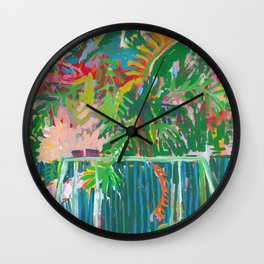 Backyard Swings Wall Clock