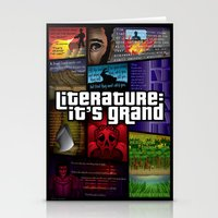 grand theft auto Stationery Cards featuring Grand Theft Literature by Mitul Mistry