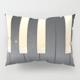 White And Black Piano Keys Pillow Sham