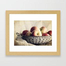 Blue Bowl of Apples Framed Art Print