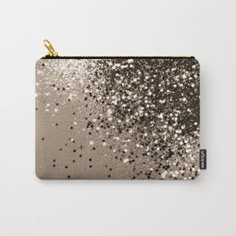 Sparkling Sepia Lady Glitter #1 #shiny #decor #art #society6 Carry-All Pouch