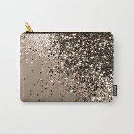 Sparkling Sepia Lady Glitter #1 #shiny #decor #art #society6 Carry-All Pouch