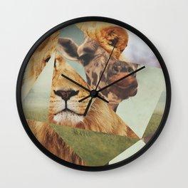 Geometric Animals Wall Clock