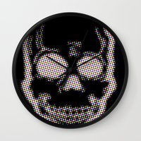 trippy Wall Clocks featuring Trippy by Hold Up Art