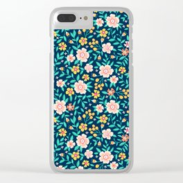 """Cute Floral pattern in the small flower. """"Ditsy print"""". Clear iPhone Case"""