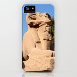 Ram-headed Sphinx in Karnak Temple iPhone Case