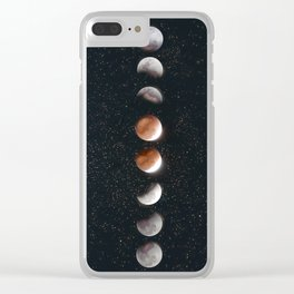 Phases of the Moon II Clear iPhone Case