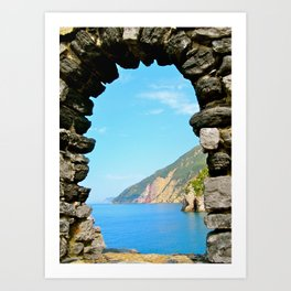 Archway to the Mediterranean-Portovenere, Italy Art Print