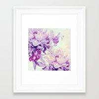 pastel Framed Art Prints featuring pastel bouquet by clemm