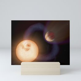 Planet with Close Sun Mini Art Print