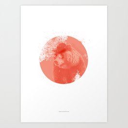 Stylish Bear Art Print