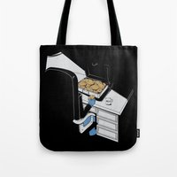 gangster Tote Bags featuring Cookie Gangster by Piopio