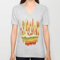Sunset in Vertical Unisex V-Neck