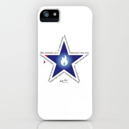 Remember your Veteran with an honor Star. iPhone Case