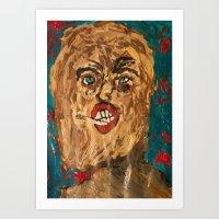 grunge Art Prints featuring grunge  by Samantha Sager