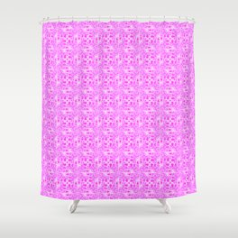 Pretty in Pink Shades Doodle Spirit Organic Shower Curtain