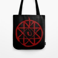 fullmetal Tote Bags featuring Alphonse by KanaHyde