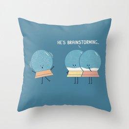 Brainstorming Throw Pillow